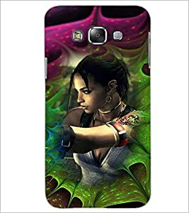 PrintDhaba Bold Girl D-4618 Back Case Cover for SAMSUNG GALAXY A8 (Multi-Coloured)