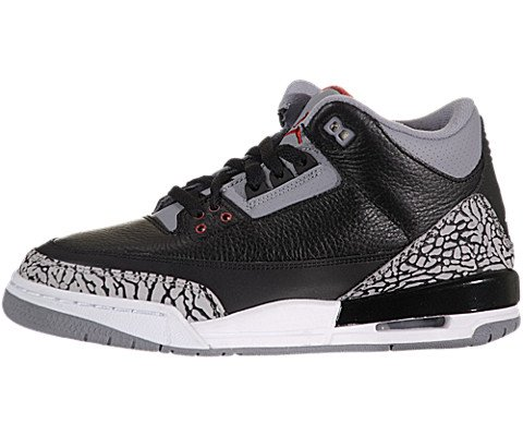 a36683ed2253 Nike Air Jordan 3 Retro GS Black Cement Grey Youth Basketball Shoes 398614- 010