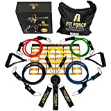 15 Pcs Premium Resistance Bands & Exercise Bands Set - Best Fitness Product & Home Gym Set With Heavy Duty Metal Clips - Great Bands For Physical Therapy & Physical Rehab - Perfect For CrossFit, P90X & Pilates- Strong Handles & Exercise Tubes - Portable Fitness Equipment For Traveling- 2 Gifts & Beautiful Git Box INCLUDED