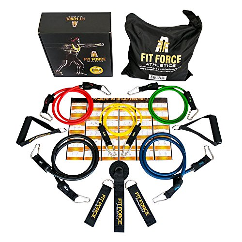 15 Pcs Premium Resistance Bands & Exercise Bands Set - Best Fitness Product & Home Gym Set With Heavy Duty Metal Clips - Resistance Bands Set For CrossFit, Gym, P90X & Pilates- Strong Exercise Tubes with Handles - Portable Fitness Equipment For Travel...