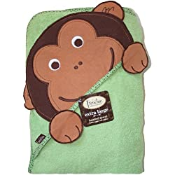 Extra Large 40x30 Absorbent Hooded Towel Monkey Frenchie Mini Couture