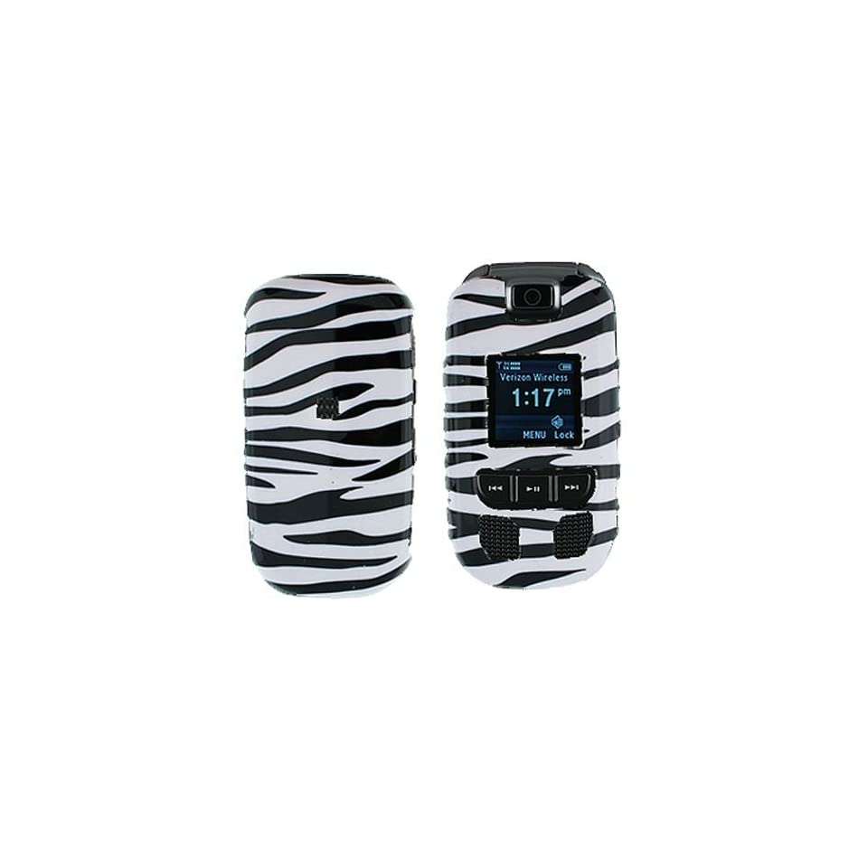 Samsung Convoy U640 Cell Phone Black/White Zebra Design Protective Case Faceplate Cover