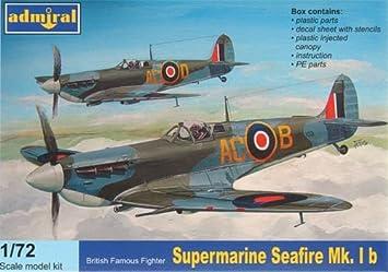 Admiral 7207 Supermarine Seafire Mk.Ib 1:72 Plastic Kit Maquette
