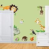 1 X Zooyoo Jungle Wild Animal Vinyl Wall Sticker Decals for Kids Baby Bedroom