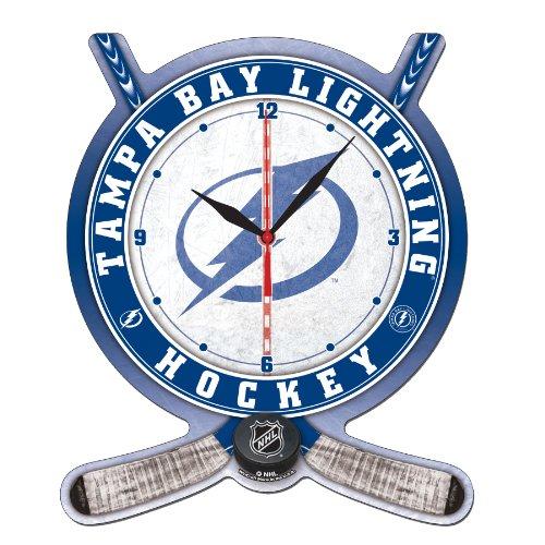 NHL Tampa Bay Lightning High Definition Clock - Hockey Stick and Puck