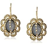 """Betsey Johnson """"Prom Party"""" Mesh-Wrapped Crystal Drop Earrings"""