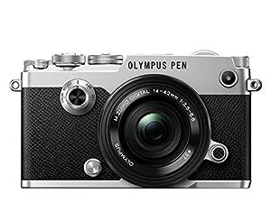 Olympus PEN F Camera - Silver (14 - 42 EZ Lens)