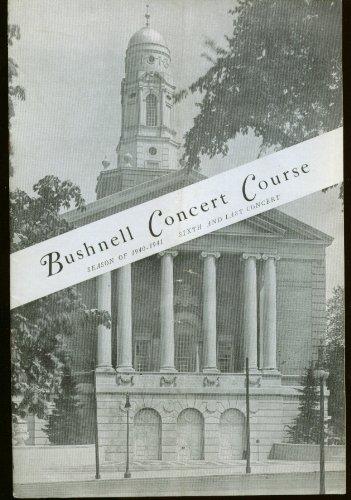 Soprano Lily Pons Recital Bushnell Hartford Ct Program 1941