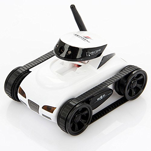 I_spy Mini Wilreless Spy Tank Rc Car with 0.3mp Hd Camera (White)wifi Controlled By Iphone Android (Remote Control Camera Car compare prices)