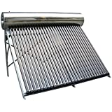 Duda Solar 150 Liter SUS304 Passive Water Heater Attached Pressurized Tank Evacuated Tubes Hot (Tamaño: 150 Liter)
