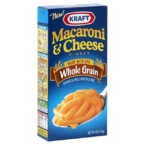 Kraft Whole Grain Mac & Cheese, 6-Ounce Boxes (Pack of 24)