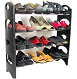 Best Shoe Rack Organizer for Closet Hallway Garage Entryway Storage Organization Easy to Assemble No Tools Needed -Adjustable Shelves - Lifetime Replacement Guarantee