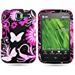 CoverON® BLACK Hard Snap-On Cover Case with PINK BUTTERFLY Design for PANTECH P6030 RENUE ATT With PRY- Triangle Case Removal Tool [WCB581]