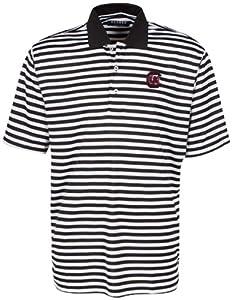 Oxford NCAA South Carolina Fighting Gamecocks Men's Bar Stripe Golf Polo, Black/White, Medium