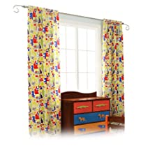 Room Magic Set of 2 Window Panels, Zoo 4 U