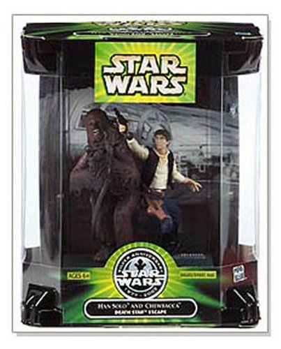 25th Anniversary Han Solo & Chewbacca Death Star Escape