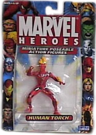Marvel Heroes Miniature Poseable Human Torch Action Figure