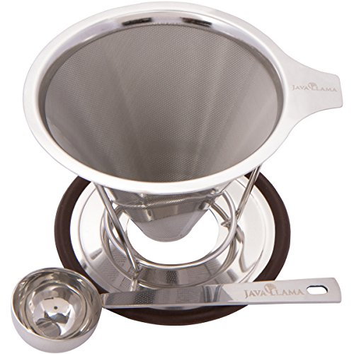 Java Llama Stainless Steel Pour over Coffee Maker (Antique Coffe Grinder compare prices)
