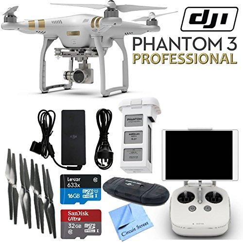 DJI-Phantom-3-Professional-Quadcopter-Drone-with-4K-UHD-Video-Camera-CS-Kit-17-Items
