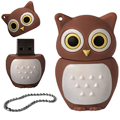 iGloo 8GB Novelty Cute Baby Owl USB 2.0 Flash Drive Data Memory Stick Device - Brown and White from iGloo