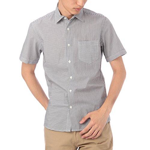 (ボイコット)BOYCOTT ストライプ切り替えシャツ ブラック(019) 03(L)