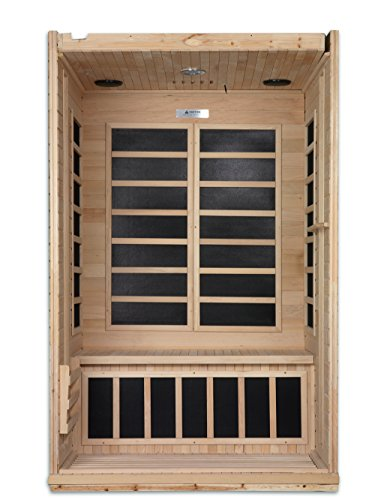DYNAMIC SAUNAS AMZ-DYN-6210-01 Venice 2-Person Far Infrared Sauna
