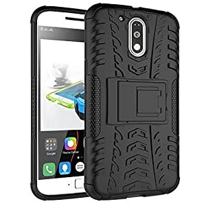 Novo Style Dual Layer Kick Stand Hard Back Case For Moto G Plus G4 4th Gen