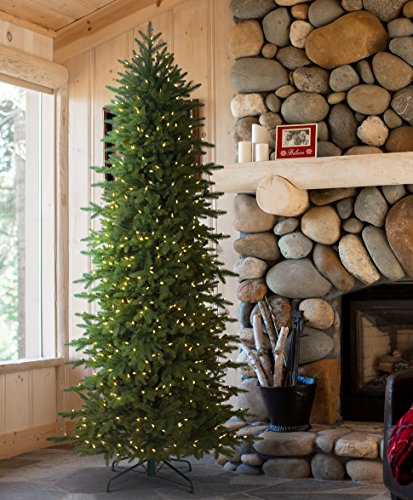 Tree-Classics-Oregonian-Slim-Artificial-Christmas-Tree-9-Feet-Prelit-Clear-Lights