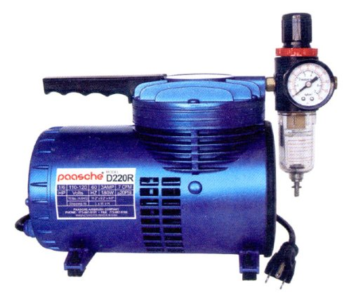 Compact Compressor With 1/6H.P. Motor Is A Great Studio Or Shop Companion