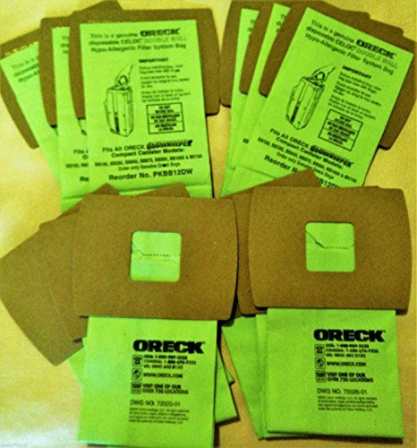 Genuine Oreck XL Buster B Canister Vacuum Bags PKBB12DW Housekeeper Bag 12 Pack (Febreze Bissell Bag Model 3267 compare prices)