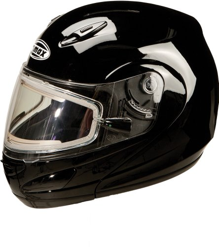 G-Max Gm44S Modular Motorcycle Helmet With Electric Shield Black Large L G6244116