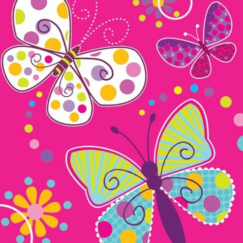 Creative Converting Butterfly Sparkle Lunch Napkins, 16 Count