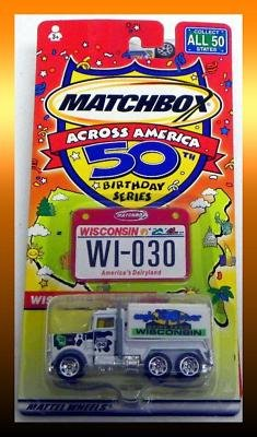 Matchbox Across America 50th Birthday Series Wisconsin Peterbilt Tanker - 1