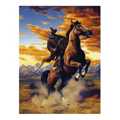 Sunsout Rough Rider 500 Piece Jigsaw Puzzle