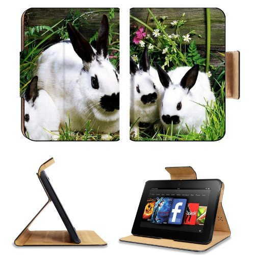 Rabbit Baby Cotton Tail Garden Pets Amazon Kindle Fire Hd 7 [2012 Version Only September 14, 2012] Flip Case Stand Magnetic Cover Open Ports Customized Made To Order Support Ready Premium Deluxe Pu Leather 7 11/16 Inch (195Mm) X 5 11/16 Inch (145Mm) X 11/ front-67815