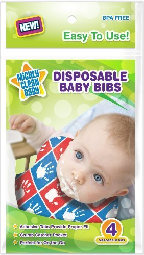 Disposable Baby Bibs 24 Count (4 bibs per package) - by Mighty Clean Baby