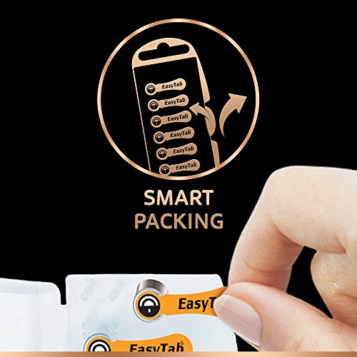Duracell Easytab Hearing Aid Batteries Size 13, Pack of 6, 1.45 V
