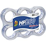 Duck Brand HP260 High Performance 3.1 Mil Packaging Tape, 1.88-Inch x 60-Yard Roll, Crystal Clear, 6 Rolls (1296093)
