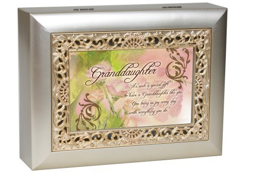 cottage garden granddaughter music jewelry box plays you light up my life new. Black Bedroom Furniture Sets. Home Design Ideas