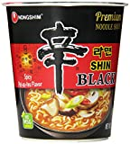 Nongshim Shin Noodle Black Cup, 3.56 Ounce (Pack of 6)