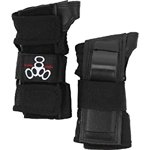 Triple 8 Saver Series Wristsavers (Black, Medium)