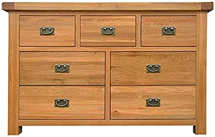 Oakhampton Chunky Oak 3 Over 4 Chest