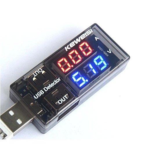 USB電流電圧テスター チェッカー 電源メーター電圧モニター + 負荷抵抗(1A/2A)