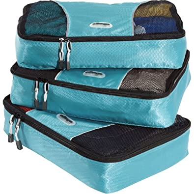 ebags medium packing cubes 3pc set black. Black Bedroom Furniture Sets. Home Design Ideas