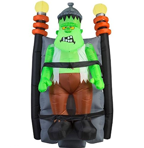 6 Ft Lighted Air Blown Inflatable Shaking Monster (Air Blown Inflatables)