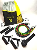 Resistance Band Set   Best Quality: 5 Heavy Duty Bands, Door Anchor, Handles, Ankle Straps + Backpack. Complete Kit: 11 pieces. Portable Home Gym. Online Guides & Video Workouts. 100% Guarantee. Labor Day Deals.