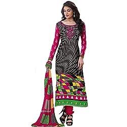 Rozdeal Women Georgette Salwar Suit Dress Material (Rda104-2011 _Black _Free Size)