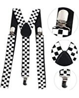 BRACES ADJUSTABLE TROUSER SUSPENDERS UNISEX FANCY DRESS