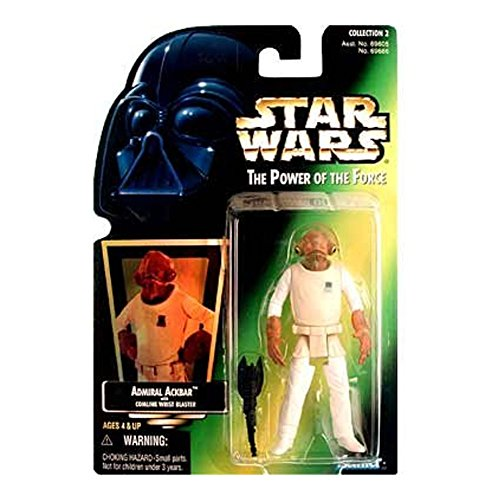 "Star Wars Power of the Force Green Card 3 3/4"" Admiral Ackbar Action Figure - 1"