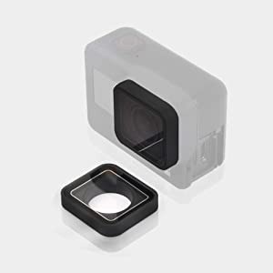 ParaPace Protective Lens Replacement Camera Lens Glass Cover Case for GoPro Hero 7 6 5 Black (Color: Black(For GoPro Hero 7/6/5 black))